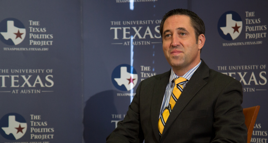 Glenn Hegar at the University of Texas at Austin