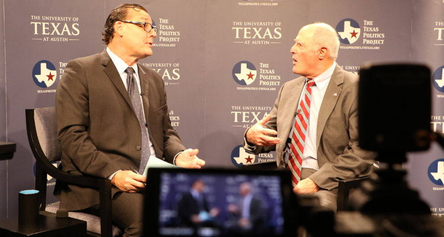 State Senator Kel Seliger with Jim Henson, Director of the Texas Politics Project