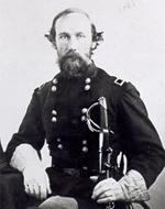Photograph of E. J. Davis in Union General uniform.
