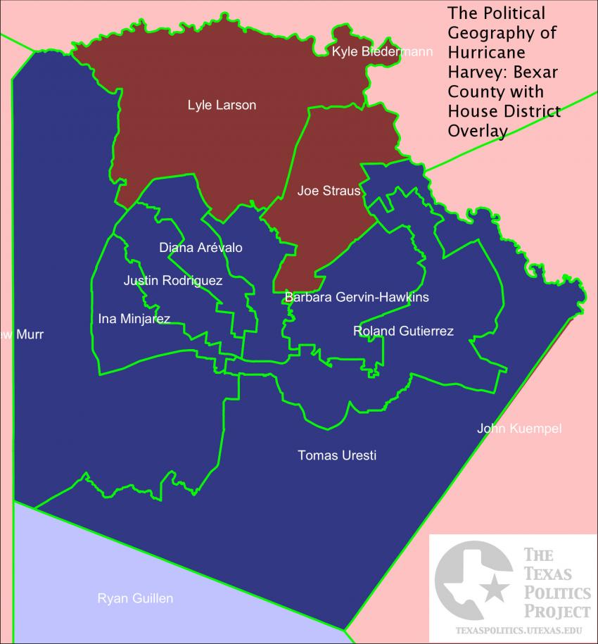 Bexar County with House District Overlay