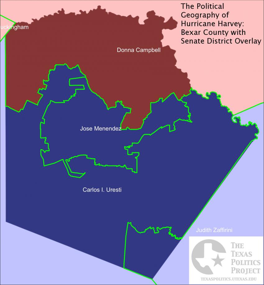Bexar County with Senate District Overlay