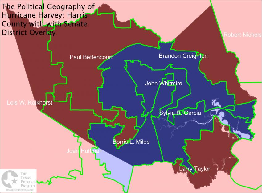 Harris County with Senate District Overlay
