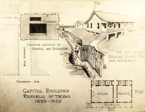 Drawing of the first capitol.