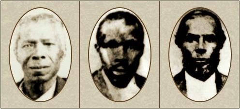 Photos of three black delegates to the Constitutional Convention.
